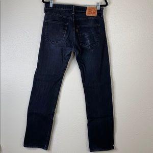 Levi button fly 501 black jeans 32x34